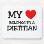 My Heart Belongs To A DIETITIAN Mousemat