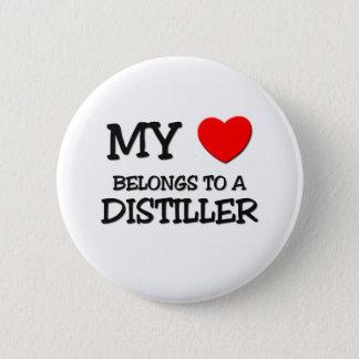 My Heart Belongs To A DISTILLER 6 Cm Round Badge