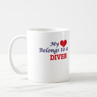 My heart belongs to a Diver Coffee Mug