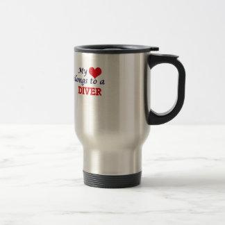 My heart belongs to a Diver Travel Mug