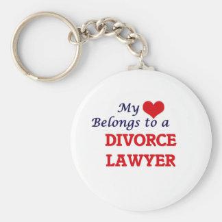 My heart belongs to a Divorce Lawyer Key Ring