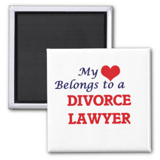 My heart belongs to a Divorce Lawyer Square Magnet