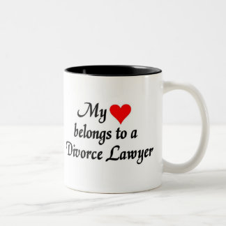 My heart belongs to a Divorce Lawyer Two-Tone Mug