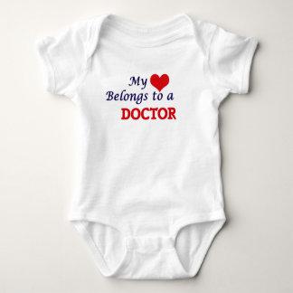 My heart belongs to a Doctor Baby Bodysuit