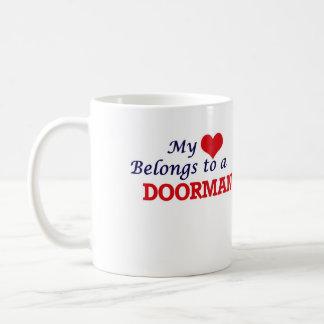 My heart belongs to a Doorman Coffee Mug