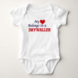 My heart belongs to a Drywaller Baby Bodysuit