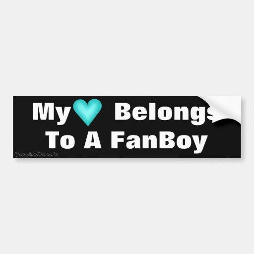 My Heart Belongs To A FanBoy Bumper Sticker