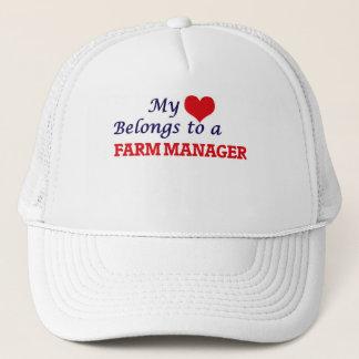 My heart belongs to a Farm Manager Trucker Hat