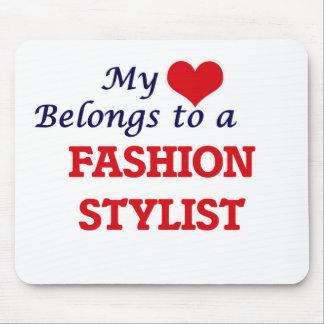 My heart belongs to a Fashion Stylist Mouse Pad