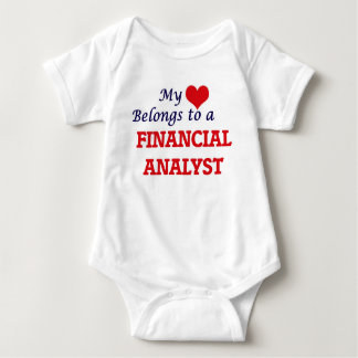 My heart belongs to a Financial Analyst Baby Bodysuit