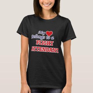 My heart belongs to a Flight Attendant T-Shirt