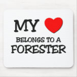 My Heart Belongs To A FORESTER Mouse Mat
