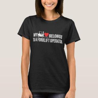My Heart Belongs To A Forklift Operator T-Shirt