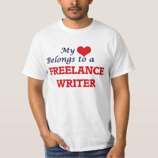 My heart belongs to a Freelance Writer T-Shirt