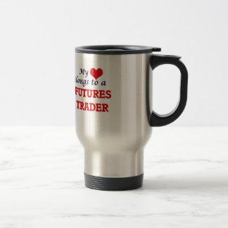 My heart belongs to a Futures Trader Travel Mug