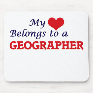 My heart belongs to a Geographer Mouse Pad