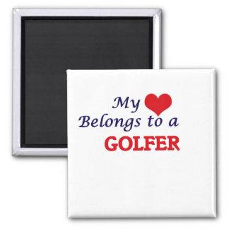 My heart belongs to a Golfer Magnet