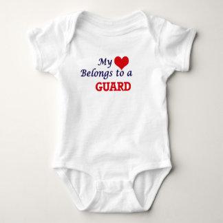 My heart belongs to a Guard Baby Bodysuit