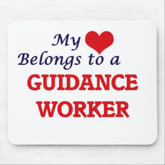 My heart belongs to a Guidance Worker Mouse Pad