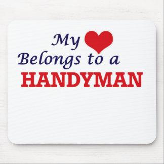 My heart belongs to a Handyman Mouse Pad