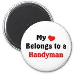 My heart belongs to a Handyman Refrigerator Magnet