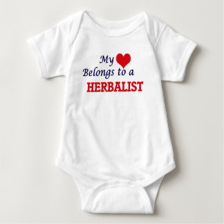 My heart belongs to a Herbalist Baby Bodysuit