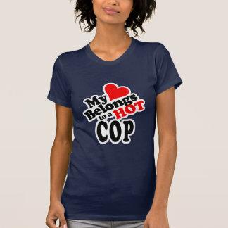 My Heart Belongs to a Hot Cop! Tee Shirt
