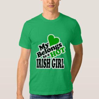 My Heart Belongs to a HOT Irish Girl Tshirt