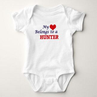 My heart belongs to a Hunter Baby Bodysuit