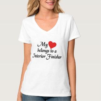 My heart belongs to a Interior Finisher Tee Shirt