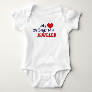 My heart belongs to a Jeweler Baby Bodysuit