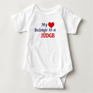 My heart belongs to a Judge Baby Bodysuit