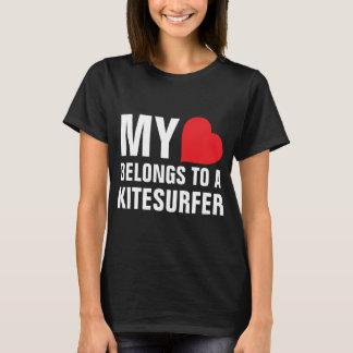 My heart belongs to a Kitesurfer T-Shirt