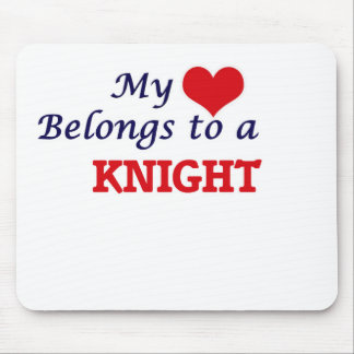 My heart belongs to a Knight Mouse Pad