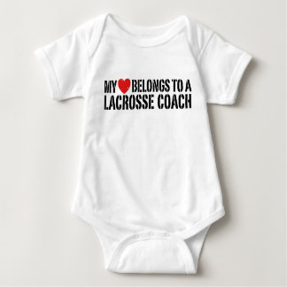 My Heart Belongs To A Lacrosse Coach Baby Bodysuit