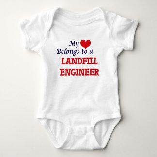My heart belongs to a Landfill Engineer Baby Bodysuit