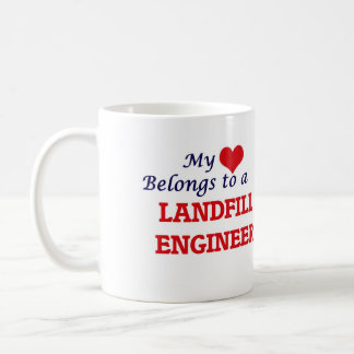 My heart belongs to a Landfill Engineer Coffee Mug
