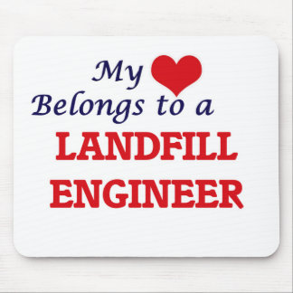 My heart belongs to a Landfill Engineer Mouse Pad