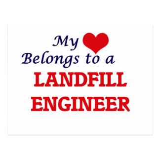 My heart belongs to a Landfill Engineer Postcard