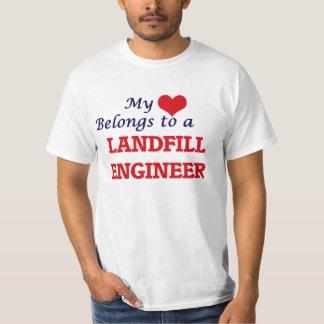 My heart belongs to a Landfill Engineer T-Shirt