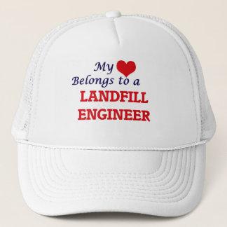 My heart belongs to a Landfill Engineer Trucker Hat
