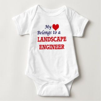 My heart belongs to a Landscape Engineer Baby Bodysuit