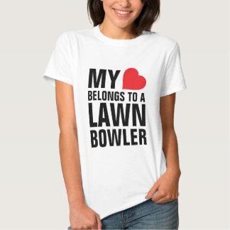 My heart belongs to a Lawn Bowler Tshirts