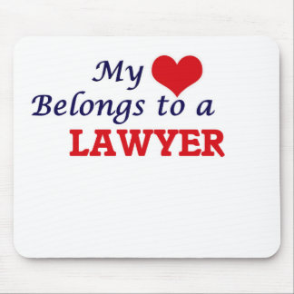 My heart belongs to a Lawyer Mouse Pad