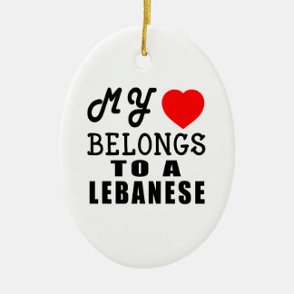 My Heart Belongs To A Lebanese Ceramic Ornament