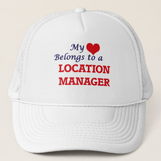 My heart belongs to a Location Manager Trucker Hat