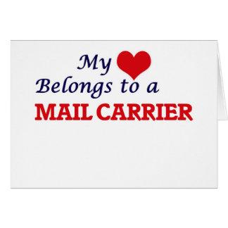 My heart belongs to a Mail Carrier Card