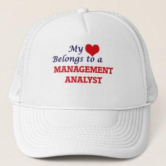 My heart belongs to a Management Analyst Trucker Hat