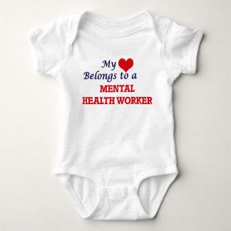 My heart belongs to a Mental Health Worker Baby Bodysuit