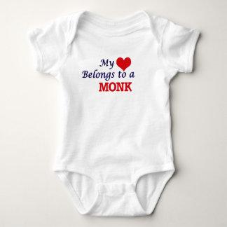 My heart belongs to a Monk Baby Bodysuit